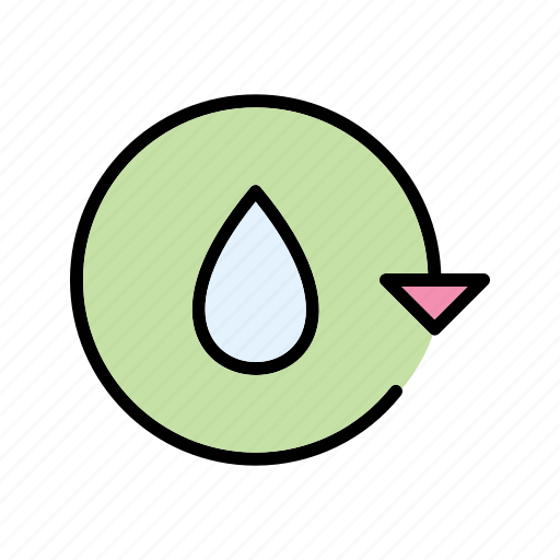 ecology, recycle, save water, water icon