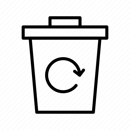 eco, garbage recycle, recycle bin, trash icon