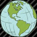 earth, globe, planer, planet, world icon