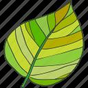 ecology, green, leaf, tree icon