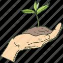 ecology, garden, plant, tree icon