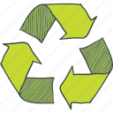 recyclables, recycle, recycling, trash icon