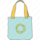 bag, briefcase, recycle, shopping icon