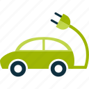 automobile, car, eco, green, vehicle icon
