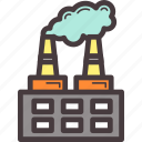 building, factory, pollution, production icon