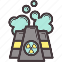 ecology, factory, pollution, production icon