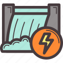 electricity, energy, power, water icon