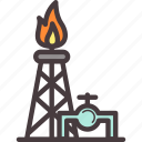 heat, oil, petrol, water icon
