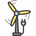 ecology, electricity, energy, power, wind icon