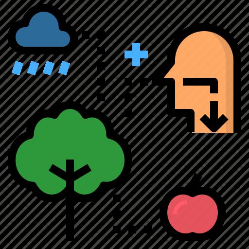 benefit, nature, profit, tree, utility icon