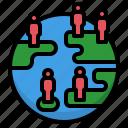 demographic, density, distribuiton, global, population