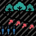 deforest, effect, population, trespass, urbanisation