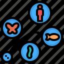 animal, diversity, evolution, organism, species icon