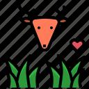 deer, grass, grassland, herbivore, vegetarian icon