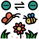 bee, butterfly, garden, neutralism, pollination icon