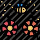 bee, flower, garden, pollen, pollination icon