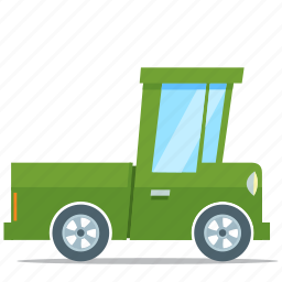eco friendly, pickup, truck, vehicle icon