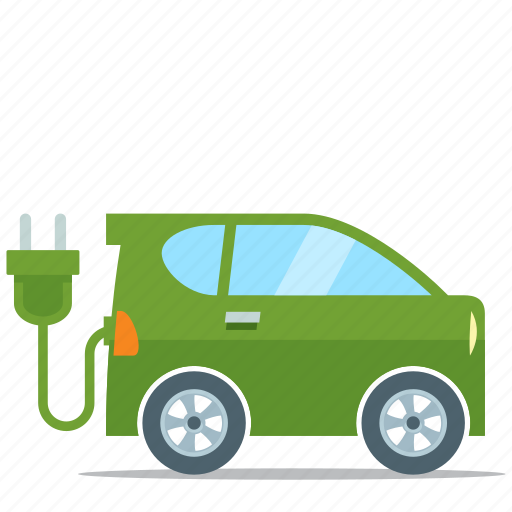 eco friendly, electric car, environment icon