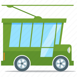 eco friendly, electric tram, energy, vehicle icon