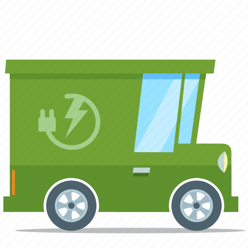 eco friendly, electric car, environment, van icon