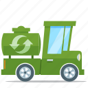 eco friendly, environment, truck, water recycle icon