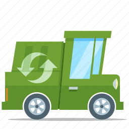 eco friendly, environment, recycle, truck icon