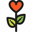 heart, love, plants, romance, romantic, valentine, valentines icon