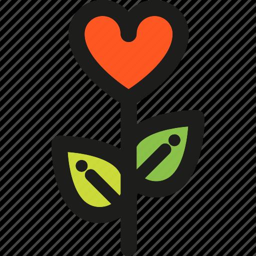 heart, love, plants, romance, romantic, valentine, valentines icon