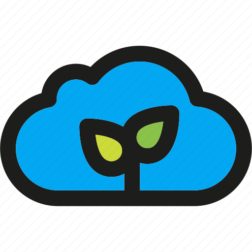 cloud, eco, ecology, enviroment, green, nature, plant icon
