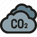 cloud, co2, eco, ecology, enviroment, nature, pollution icon