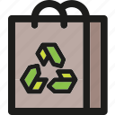 bag, ecology, enviroment, green, nature, paper, recycle icon