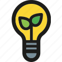 bulb, ecology, enviroment, green, light, nature, power icon