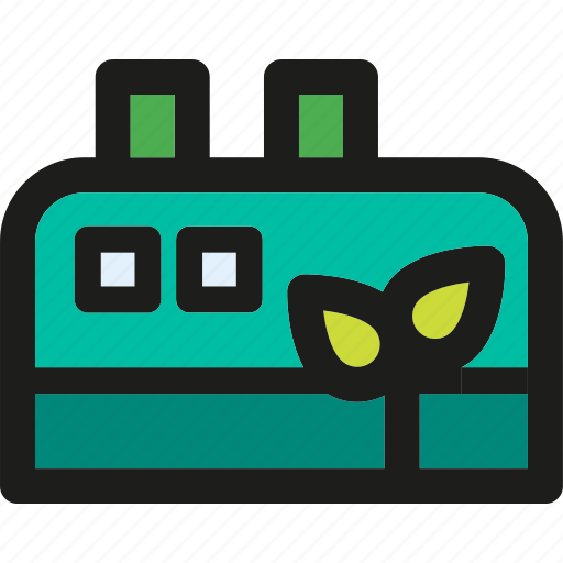 clean, eco, ecology, enviroment, factory, green, nature icon