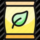 organic, bag, leaf