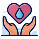care, ecology, environmental, love, natural, water icon