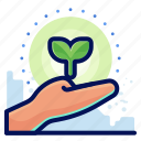 care, ecology, environmental, natural, plant icon