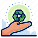 care, ecology, environmental, natural, recycle icon