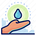 care, ecology, environmental, natural, water icon