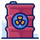 container, ecology, environmental, natural, nuclear icon