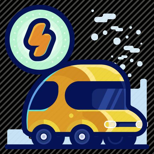 car, ecology, electric, environmental, natural, vehicle icon