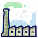 ecology, environmental, factory, industry, natural icon