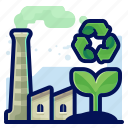 ecology, environmental, factory, industry, natural, plant, recycle icon