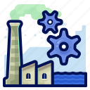 ecology, environmental, factory, industry, natural, settings icon