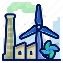 ecology, environmental, factory, industry, natural, windmill