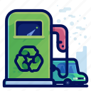 ecology, environmental, fuel, natural, recycle, vehicle icon