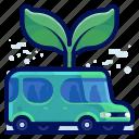car, ecology, environmental, green, natural, plant, vehicle icon