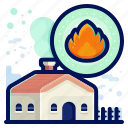 ecology, environmental, fire, home, natural icon