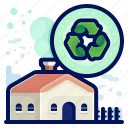 ecology, environmental, home, natural, recycle icon