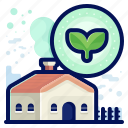 ecology, environmental, house, natural, plant icon