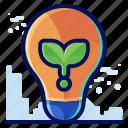 ecology, environmental, idea, innovative, lightbulb, natural icon